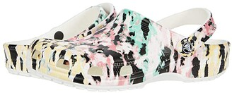 Crocs Classic Tie-Dye Mania Clog (Multi/White) Shoes