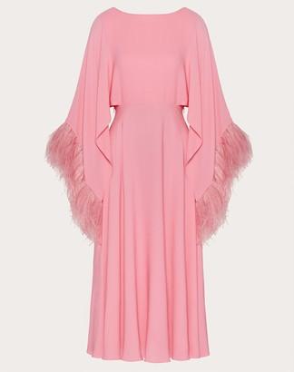 Valentino Embroidered Georgette Dress Women Pastel Rose Silk 100% 40