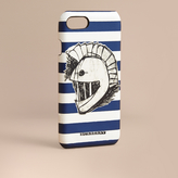 Burberry Striped London Leather iPhone 7 Case with Pallas Helmet Motif