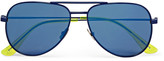 Saint Laurent - Surf Aviator-style Metal Mirrored Sunglasses