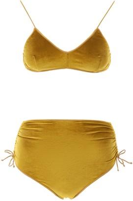 Oseree Rouched Velvet Bikini
