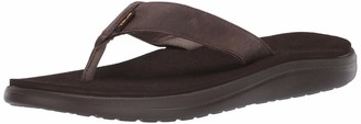 Teva Men's Voya Flip Leather Open Back Slippers