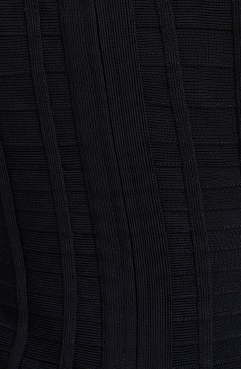 Herve Leger Windowpane Detail Dress
