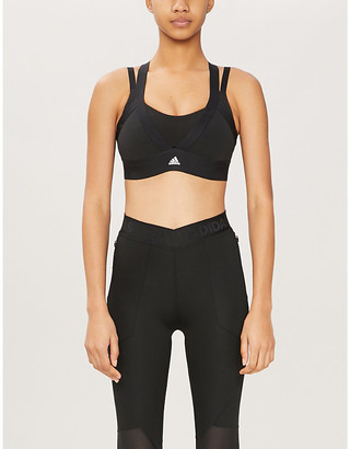 adidas All Me layered stretch-jersey sports bra