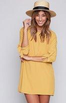 Beginning Boutique Crazy Little Thing Called Love Dress Mustard