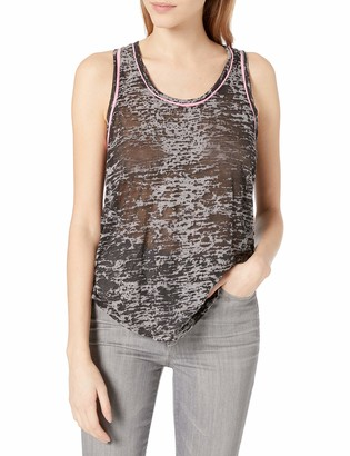 Tresics Women's Trendy Basic Junior Tank Top with Back Placket and Piping