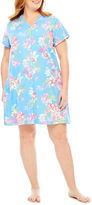 Miss Elaine By Short Sleeve Robe-Plus