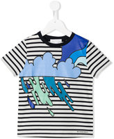 Burberry cloud print striped T-shirt