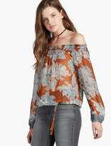 Lucky Brand Paisley Off-the-shoulder Top