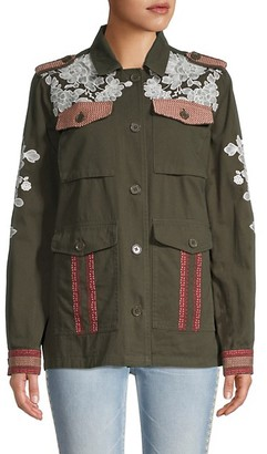 Driftwood Embroidered Military Jacket