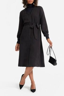 Everlane The Cupro Blouson Dress