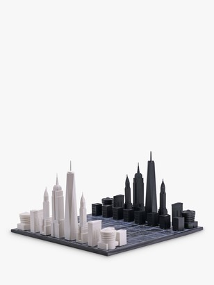 Skyline Chess New York City Wood Board Chess Set