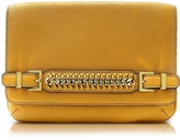 Diane von Furstenberg Iggy Honey Mustard Leather Clutch