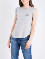 Frame Muscle Shirttail cotton-jersey T-shirt