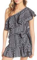 Rebecca Minkoff Lily Eyelet Gingham Top