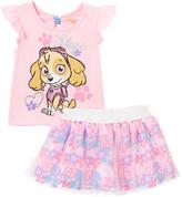 Children's Apparel Network PAW Patrol Pink Skye Angel-Sleeve Tee & Skirt - Toddler
