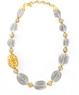 Jose & Maria Barrera Rock Crystal Bead Scroll Necklace