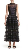 Christopher Kane Women's Foiled Lace & Tulle Dress