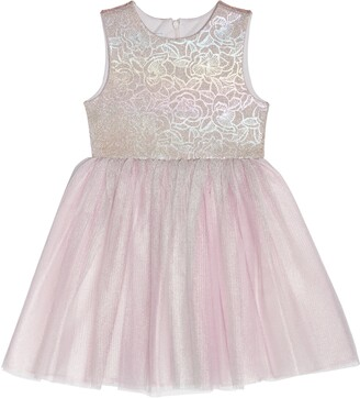 Pippa & Julie Holographic Floral Tulle Dress