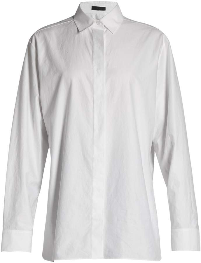 The Row Big Sisea cotton-twill shirt
