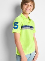 Chest stripe short sleeve polo