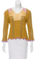 Christian Lacroix Crotchet-Accented Long Sleeve Top