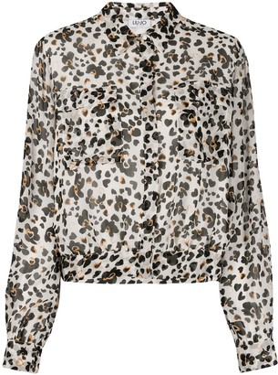 Liu Jo Long-Sleeved Floral-Print Shirt