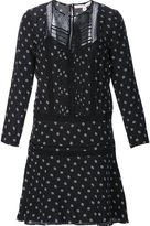 Veronica Beard semi sheer dotted print dress