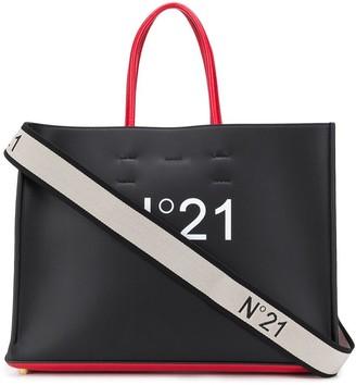 No.21 Two-Tone Logo Tote Bag