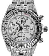 Breitling Galactic Chronograph II A13364 Stainless Steel & Diamond 44mm Watch