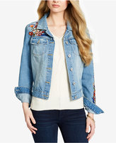 Jessica Simpson Cotton Embroidered Pixie Denim Jacket