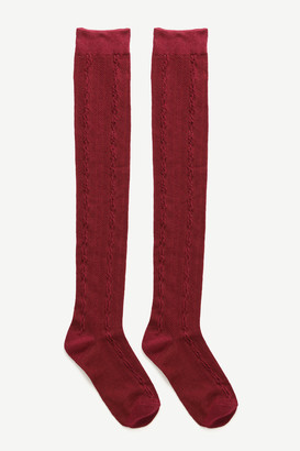 Ardene Over-the-Knee Cable Knit Socks
