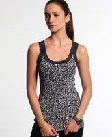 Superdry Vintage Lace Printed Vest Top