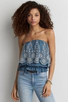 American Eagle Outfitters AE Eyelet Tube Top