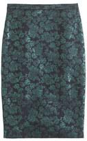 J.Crew No. 2 pencil skirt in metallic floral