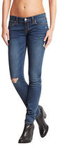Aeropostale Womens Destroyed Dark Wash Skinny Jean