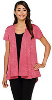 George Simonton As Is Textured Knit Cascade Front Cardigan