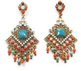 Americana Fashion Tribal Beaded Look Dangle Earrings