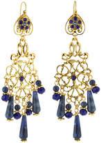 Jose & Maria Barrera Sodalite & Crystal Chandelier Earrings