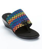 Bernie Mev. Florida Woven Stretch Wedge Sandals Shoes - Women's