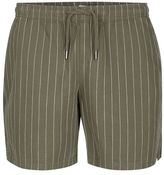 Topman Khaki Pinstripe Pull On Shorts