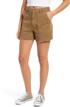 Tinsel Front Pocket Twill Military Shorts
