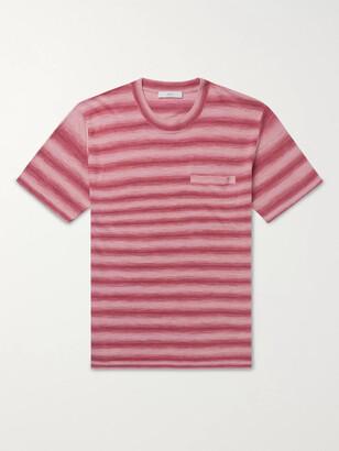 Mr P. Striped Knitted Linen T-Shirt