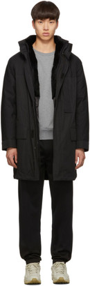 Yves Salomon Army Black Down Fur-Lined Parka