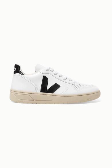Veja V-10 Leather Sneakers - White
