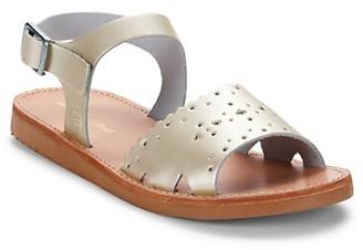 Freshly Picked Baby Girl's & Little Girl's Platinum Laguna Sandals