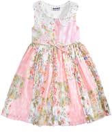 Blueberi Boulevard Floral-Print Pleated Dress, Baby Girls