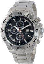 August Steiner Men's AS8071SSB Swiss Multi-Function Dial Silver-Tone Bracelet Watch