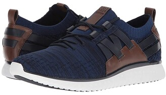 Cole Haan Grand Motion Woven Stitchlite (Navy Ink/Peony Knit/British Tan/Optic White) Men's Shoes