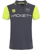 Slim Fit Aston Martin Racing Wings Polo Shirt